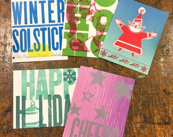 Holiday Letterpress Card 5-pack