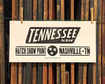Tennesse Now Letterpress Poster