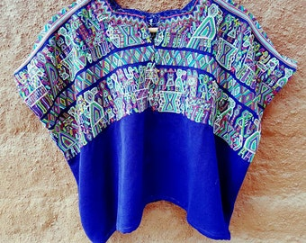 Hand woven and embroidered blouse