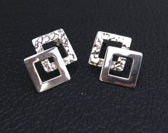 Handmade Two Textured  Sterling Silver .925