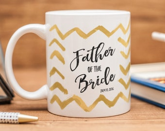 Father of the Bride mug, customized gift for the Father of the Bride