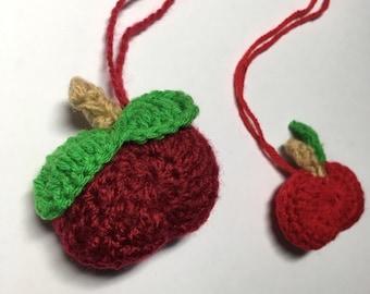 Pair of Crochet Apples