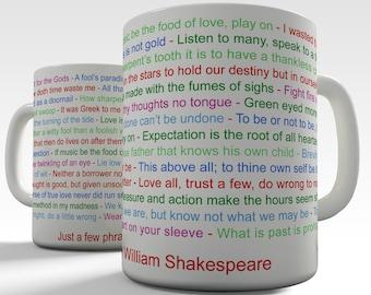 William Shakespeare Phrase Ceramic Funny Mug