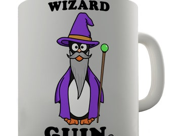 Wizard Guin Penguin Ceramic Mug
