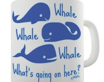 Whale Whale What's Going On Ceramic Tea Mug