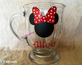 Personalized Minnie Mouse - etch Mug