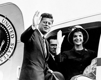 President John F. Kennedy & First Lady Jacqueline Prepare to Leave for Vienna - 5X7, 8X10 or 11X14 Photo (BB-774)