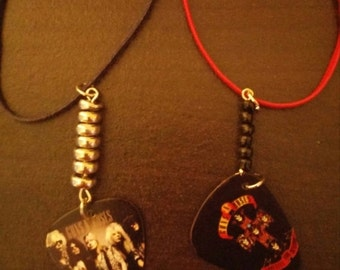 Opening Special Guns and Roses (GNR) Guitar Pick Necklace