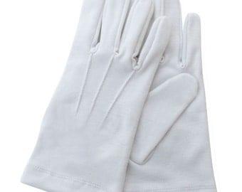Masonic White Cotton Gloves Plain - Brand New Excellent Quality