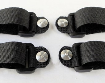 Replace-A-Lace Velcro (Hook & Loop) Straps to Replace Shoe Laces - Black