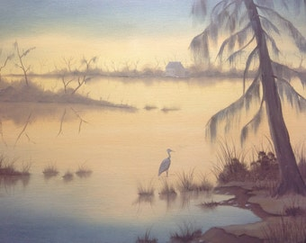 Old Swamp Home 16 X 20 original oil painting wall art home decor