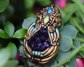 Mystic Craft Pendant - Amethyst Crystal