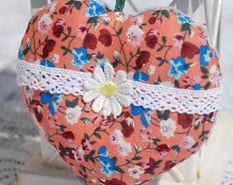 Hanging fabric heart