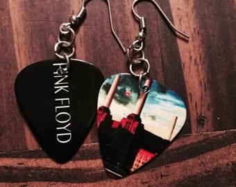 Pink Floyd Guitar Pick Earrings