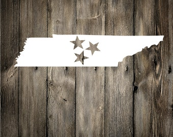 Tennessee Tristar Decal, Vinyl Decal, Car Decal, Phone Decal, Laptop Decal, Water Bottle Decal, Vinyl Sticker
