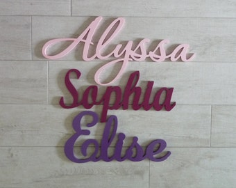 CLEARANCE - Wooden Names/Words for Kids Rooms - SALE