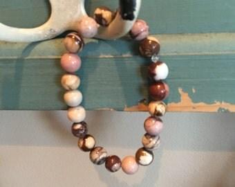Zebra stone bracelet