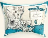Maija This is Your Listing Louisiana State Pillow Cover with Insert