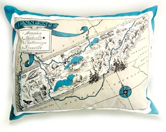 Tennessee State Pillow Cover with Insert