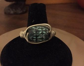 Turquoise Metal Ring
