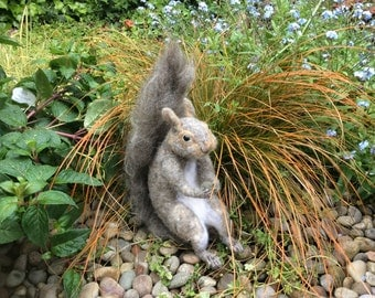 Needle felted squirrel Life size
