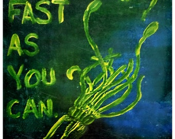 """Octocaplypse Poster """"As Fast As You Can"""" Art Print"""