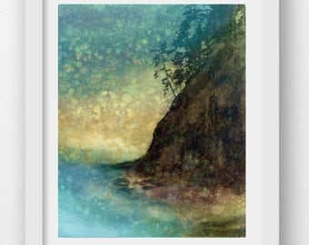 SUNSET HAZE, limited edition fine art print, coastal art, Oregon coast, Oswald West