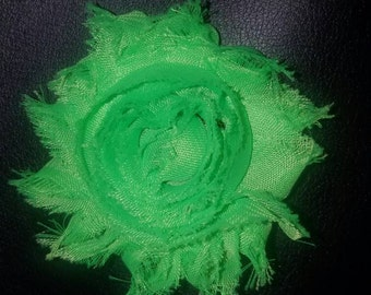 Shabby chic flower on alligator clip