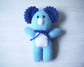 Gorgeous Hand Knitted Koala Cuddle Toy - Pure Wool