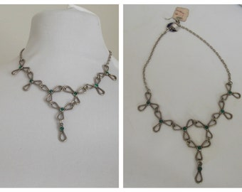 1970s chain necklace flower chain necklace NOS