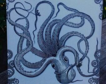 Kraken Art Plaque