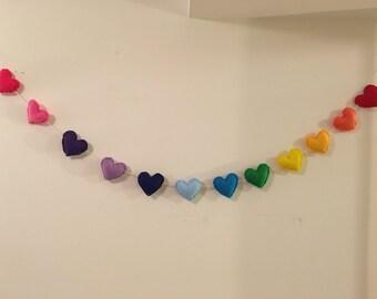 Rainbow Heart Banner