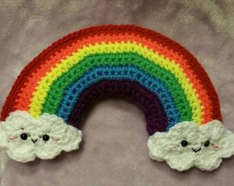 Stuffed rainbow, amigurumi rainbow