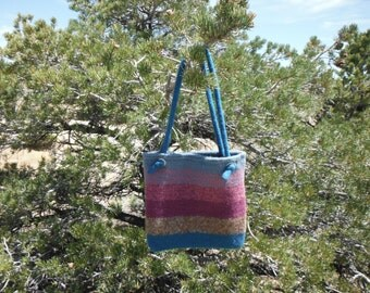 All About Turquoise Felted Purse