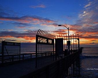 OB Fishing Pier Sunset