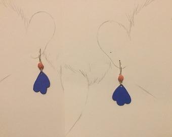Blue bird Earring