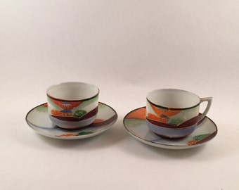 1940's Occupied Japan Demitasse Cups & saucers.