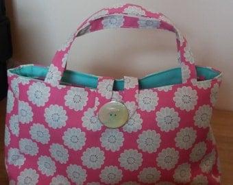 Pretty pink flower bag