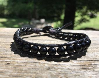 Classic Black Olive wrap bracelet