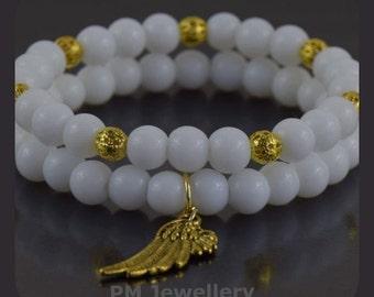 Bracelet-white and gold