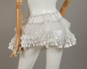 Secret Satin Sissy's Satin and Net Short Underskirt