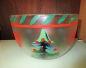 Kosta Boda Christmas Tree Glass Bowl - Made in Sweden