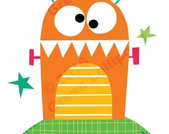 Bright Orange Monster