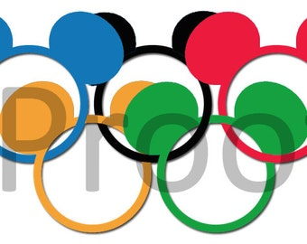 Disney Mickey Head Olympics Disney Digital File to Download for Personal Printing  Disney Olympic Rings