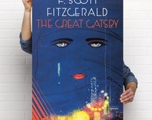 The Great Gatsby Poster Book Cover // Vintage Book Cover Print // Amazing HD Detail // Free shipping Worldwide //F Scott Fitzgerald