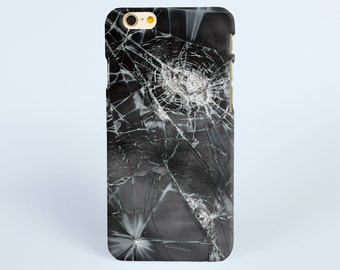 Black Broken screen glass iPhone 8 case, iPhone X case, iPhone 7 plus case, iPhone 6s case tough case samsung galaxy s8 case, phone case