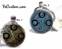 Doctor Who Time Lord Seal, 1-Sided Or 2-Sided Keychain Or Necklace, 25mm Picture Pendant, Custom Personalize Gift Her Him Women Men Friend