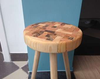 Stool/side table oiled