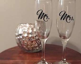 Mr. and Mrs. Toasting Glasses