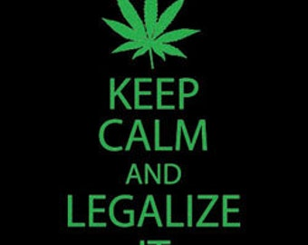 Keep Calm and Legalize It Tee Shirt